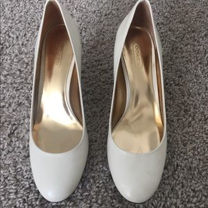 White Coach Heels - Great for Wedding!!!